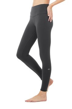 The 7/8 High-Waist Airbrush Legging — all the smoothing, sculpting benefits of the full-length version, in a perfectly cropped package. So good for studio & all-day cool for street, this look features flat-locked seaming for comfort and functionality, no side seams, and an on-trend high waist. Sculpts, lifts & smooths! No side seams & flat-locked seams for extra comfort Designed & uniquely fit to flatter every size Wear-tested by our in-house team for the perfect fit 7/8 High-Wai