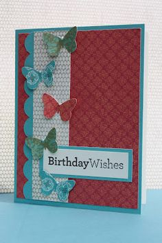 This card uses our Stella paper--the butterflies were cut using the Art Philosophy Cricut Cartridge from Close to My Heart.