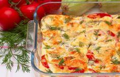 Auflauf mit Rinderhack, Zucchini und Paprika