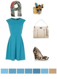 turquoise, fawn, animal print