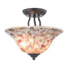 651e80851c5 Titan Lighting 2-Light Ceiling Oil Rubbed Bronze Semi-Flush Mount Semi Flush  Ceiling