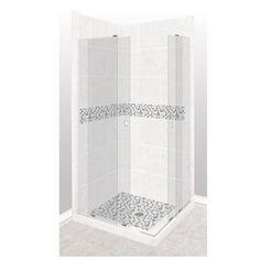 American Bath Factory Laguna Light With Laguna Mosaic Tiles Sistine Stone Wall Stone Composite Floor Rectangle 11-Piece
