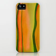 Green, Red & Yellow iPhone & iPod Case by Alina Sevchenko - $35.00