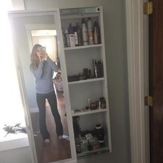 Beau Full Length Mirror Sliding Beauty Storage Cabinet
