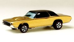 1968 Hot Wheels Redline Custom T-Bird.  (Nice car although someone modified or restored it with the wrong wheels in front)