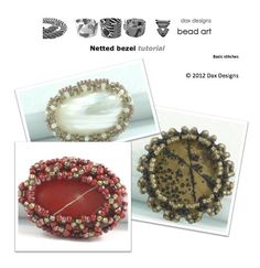 Netted beaded bezel tutorial instructions