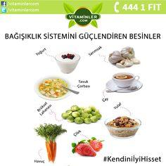Bağışıklık Sistemini Güçlendiren Besinler #metabolizma #destekleyici #besin #sebze #meyve #vitamin #beslenme #bağışıklıksistemi #vitamin #balıkyağı #omega3 #sağlık #diyet #health #sağlıklıyaşam #antioksidan #bitkisel #doğa #cvitamini #eklem #eklemağrısı #mineral #sindirim #probiyotik #glukozamin Kendini İyi Hisset.