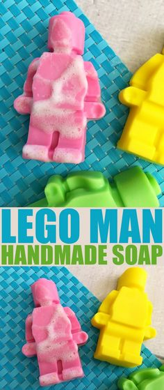 This Lego Man Handmade Soap diy is super fun for little lego fans. Lego soap are perfect for throwing into Lego themed birthday party loot bags.
