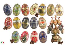EASTER EGG FABERGE' milk chocolate eggs filled with hazelnut cream