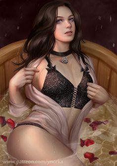 Bathtub Yennefer by ynorka on DeviantArt