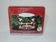 Hallmark 1998 Disney Christmas Ornament - The Mickey & Minnie Handcar w/Box