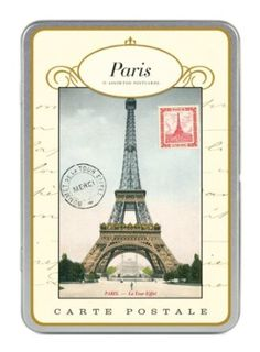 Paris postcards.  I know I seem needy but it is like he's on the other side of the world and he sends me a postcard with one sentence on it. lol