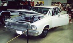"""Car 96 - 1965 Dodge Coronet - The """"Max Wedge 426"""" clone transformation completed including a roll bar!  This was at Autorama 11-17-90"""