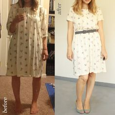 Über Chic for Cheap: Clothing repurposing. (Dude she turned a nightgown into a dress. What? I need to learn how to sew.)