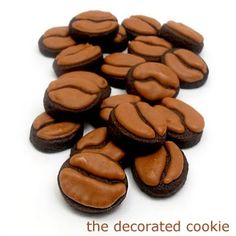 happiness liquified: iced coffee and coffee bean cookies | The Decorated Cookie