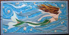 mermaid beach painting | ... maiden… the making of a glass mosaic mermaid. | ArtMosaicsCarolinas