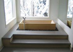 Bañera oriental moderna