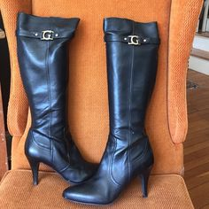Leather Boots Guess women's boots Guess Shoes Heeled Boots