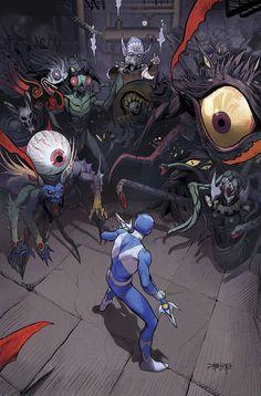 Blue Ranger vs Finster by Dan Mora