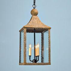 Scallop Trim Hanging Lantern - Shades of Light