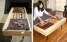 Fine Wood Nes Controller Coffee Table