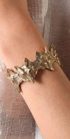 A very unpretentious modern art nouvea bracelet From Alkemie. Wolf Jewelry, Jewelry Box, Silver Jewelry, Jewelry Accessories, Vintage Jewelry, Fashion Accessories, Fashion Jewelry, Jewelry Making, Unique Jewelry
