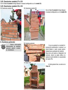 Cum se construieste un gratar din caramida? Bbq Grill Diy, Outdoor Barbeque, Jenga, Exterior, House, Photos, Brick Bbq, Pictures, Home