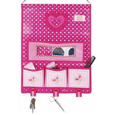Parede Hang Up Coisas Organizador Bolsa de armazenamento diversos Storage Bag Rose Cor Revestido Caso não tecido em Ciaxas de armazenamento ...