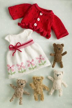 Red Nose Day Dolls: Little knitted things#loveknittingcom#amidsummerknitsdream