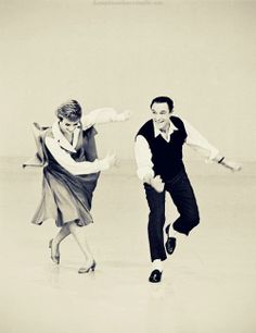 Julie Andrews and Gene Kelly on her TV show, 1965.