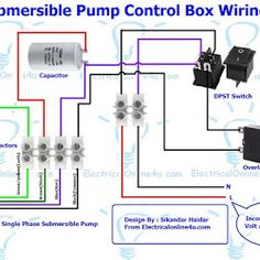 The complete guide of single phase motor wiring with circuit breaker submersible pump control box wiring diagram for 3 wire single phase asfbconference2016 Gallery