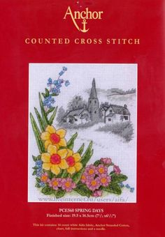 spring   1 Cross Stitch Landscape, Ribbon Work, Mobile Covers, Cross Stitch Flowers, Spring Day, Kids Outfits, Embroidery, Fabric, Pattern