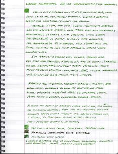 Handwritten review. As you can see at the bottom, I loaded the remainder of the Palm Green cartridge into my Kaweco Sport with a medium nib. The flow was much more consistent than the BB.