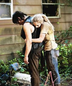 """Daryl's light in the darkness. Daryl and Beth from The Walking Dead episode """"Still"""""""