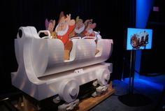This Aug. 18, 2011 file photo shows a full-size mockup of the Seven Dwarfs Mine Train ride vehicle, shown off by Walt Disney Imagineering during Disney's 2011 D23 Expo in Anaheim, Calif. (FILE/Orlando Attractions Magazine)