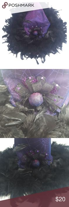 Sexy Witch Purple Feather Hat Sexy Witch Purple Feather Hat Vintage Accessories Hats