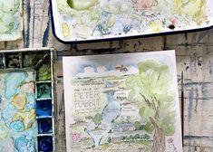 Nashville Landscape Paintings | Elizabeth Wade Studio | United States Modern Landscaping, Wall Ideas, Nashville, Landscape Paintings, United States, The Unit, Studio, Mural Ideas, Modern Landscape Design