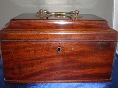georgian casket topped tea caddy