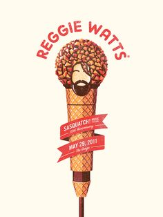 Reggie Watts. Illustration by DKNG