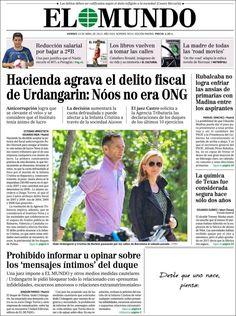 Los Titulares y Portadas de Noticias Destacadas Españolas del 19 de Abril de 2013 del Diario El Mundo ¿Que le parecio esta Portada de este Diario Español?