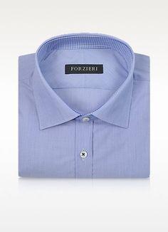 Forzieri Striped Slim Fit Cotton Dress Shirt