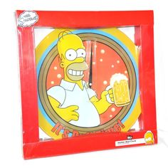 The Simpsons Homer Wall Clock It's Duff Time Holding Beer 13.75 Diameter New #Vandor #ItsDuffTime