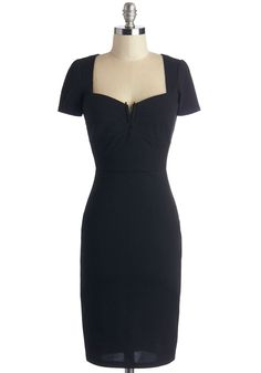 All for Stun Dress in Black. You make a statement as soon as you step out in this sleek black dress! #black #modcloth