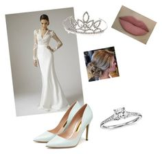 mariage by emma-robion on Polyvore featuring polyvore fashion style Rupert Sanderson Blue Nile Yves Saint Laurent clothing
