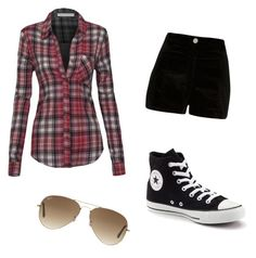 """Skater Look"" by cassiebaker-1 on Polyvore featuring River Island, Converse and Ray-Ban"
