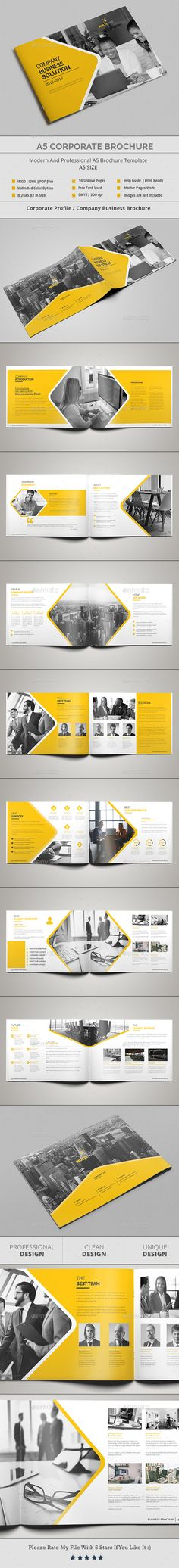 A5 Corporate Brochure Template InDesign INDD