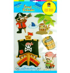 Decorating was never this much fun! These non-toxic, kid-safe wall stickers can brighten up any room! Magical wall stickers are and are embellished with metalic accents, whimsical characters and depth. These stickers are easy to 3d Wall, Wall Stickers, Gifts For Kids, Pirates, Whimsical, Canada, Colour, Free Shipping, Holiday