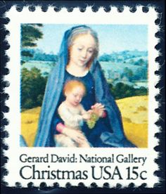 """Christmas 1979 - from """"The Rest on the Flight into Egypt"""" by Gerard David (1510). A nicely designed stamp."""