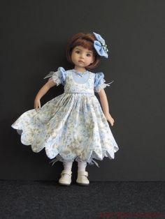 """Blue Rose Set Handmade for 13"""" Effner Little Darling 14"""" Kish BJD by JEC   eBay-papillion19"""