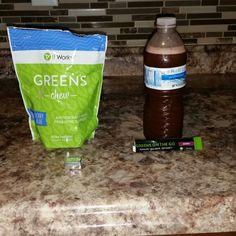 "I don't know about yall but it's Monday and I'm dragging so what do I turn to GREENS!!!! My Greens on the go is going to give me some energy  Plus my 8 servings of fruits and vegetables ?? #greensonthego #greenchews #Energy #alkalize #detoxify #healthylifestyle #yummy message  ""greens"" to 765-617-7751, message me or www.brittanyfox08.myitworks. com"